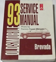 1993 Oldsmobile Service Manual Bravada