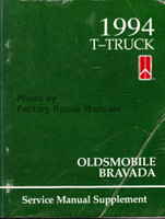 1994 T-Truck Oldsmobile Bravada Service Manual Supplement
