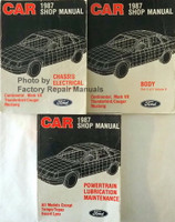 1987 Ford Mustang Thunderbird Mercury Cougar Lincoln Continental Mark VII Shop Manuals