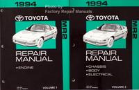 1994 Toyota MR2 Repair Manuals Volume 1 and 2