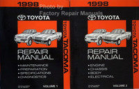 1998 Toyota Tacoma Repair Manuals Volume 1, 2