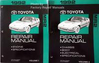 1992 Toyota MR2 Repair Manuals Volume 1 and 2