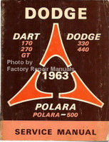 Dodge Dart Dodge 330 440 Polara 1963 Service Manual