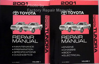 2001 Toyota Tundra Repair Manual Volume 1 and 2