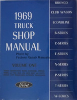 1969 Ford Truck Shop Manual Volume 1, 2, 3, 4