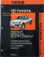 1998 Toyota Tacoma Repair Manual Pre Runner Supplement