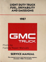 1987 GMC Pickup Truck Suburban Jimmy Van Fuel, Driveability and Emissions Manual
