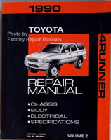 1990 Toyota 4Runner Repair Manual Volume 2 Body Chassis Electrical Specifications
