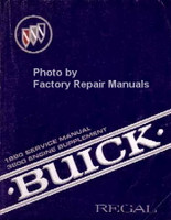 1990 Service Manual 3800 Engine Supplement Buick Regal