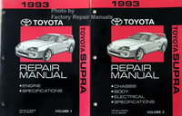 1993 Toyota Supra Repair Manuals Volume 1, 2