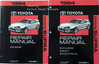1994 Toyota Supra Repair Manuals Volume 1, 2