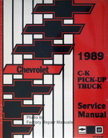 1989 Chevrolet C-K Pick-Up Truck Service Manual Reprint