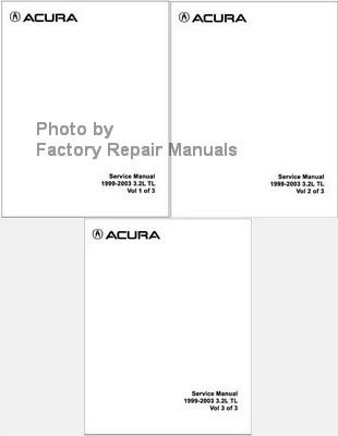 Acura Service Manual 1999 2003 32L TL Volume 1 2 3