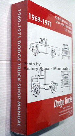 1969 1970 1971 Conventional Cab, Low Cab Forward, Tilt Cabs Dodge Trucks Models 100 through 1000 Service Manual Spine View