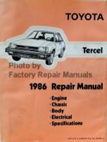 Toyota Tercel 1986 Repair Manual