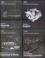1975 Ford Truck Shop Manual Volume 1, 2, 3, 4, 5
