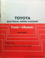 Toyota Electrical Wiring Diagram Truck & 4Runner 1986 Model