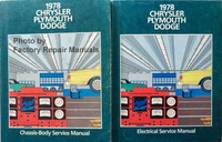 1978 Chrysler Plymouth Dodge Service Manual Volume 1 and 2