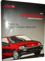 Geo 1993 Metro Service Manual