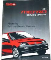 Geo 1994 Metro Service Manual
