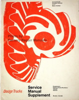Dodge Truck Models 100-800 Conventional - 4x4 - Forward Control Service Manual 1971