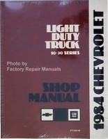 Chevrolet 10-30 Series 1984 Light Duty Truck Shop Manual