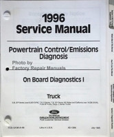 Powertrain Control/Emissions Diagnosis 1996 Service Manual Car/Truck On Board Diagnosics I