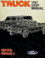 Truck 1987 Shop Manual Ranger, Bronco II Ford