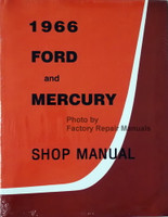 1966 Ford and Mercury Large Car Factory Shop Service Manual Reprint