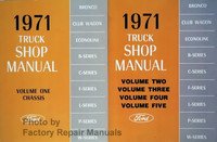 1971 Ford Truck Shop Manual Volume 1, 2, 3, 4, 5