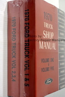 1970 Ford Truck Shop Manuals Volume 1, 2, 3, 4, 5 Spine View