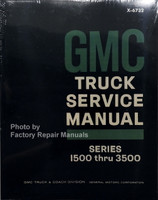 1967 GMC Truck Service Manual Series 1500 thru 3500