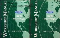 2008 Ford Mustang Workshop Manuals Volume 1 and 2