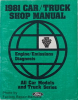 1981 Ford Car/Truck Shop Manual Engine/Emissions Diagnosis