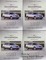 2007 Chrysler Pacifica Service Manual Volume 1, 2, 3, 4