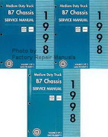 1998 Chevy GMC B7 Bus Chassis Service Manual Volume 1, 2, 3