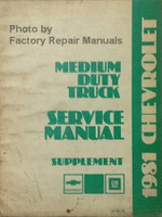 1981 Chevrolet Medium Truck Service Manual Supplement