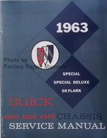 1963 Buick Special, Special Deluxe & Skylark Chassis Service Manual 4000-4100-4300