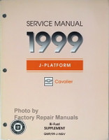 Service Manual 1999 J-Platform Chevrolet Cavalier Bi-Fuel Supplement
