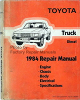 Toyota Truck Diesel 1984 Repair Manual
