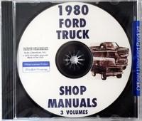 1980 Ford Truck Shop Manuals 3 Volumes