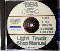 1984 Ford F-150 to F-350 Bronco Econoline E-150 to E-350 Light Truck Shop Manual 5 Volumes