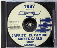 1987 Chevrolet Caprice  El Camino Monte Carlo Shop Manual