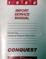 1986 Import Service Manual Conquest