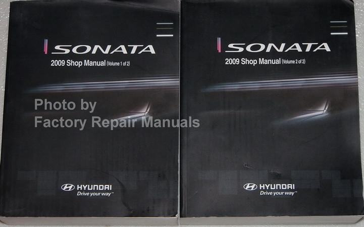 Sonata 2009 Shop Manual Hyundai Volume 1, 2
