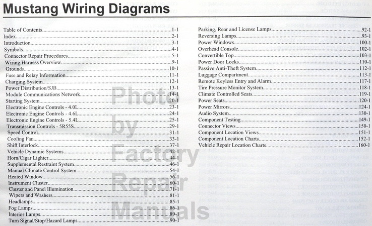 2009 Ford Mustang  U0026 Shelby Gt500 Electrical Wiring