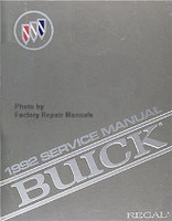 1992 Service Manual Buick Regal