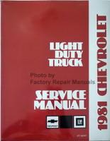 1981 Chevrolet Light Duty Truck Service Manual