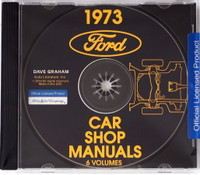 Ford 1973 Car Shop Manual Volume 1, 2, 3, 4, 5