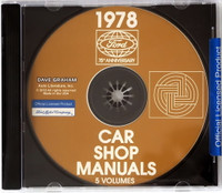 1978 Ford Lincoln Mercury Car Shop Manuals on CD